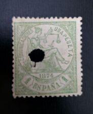 SELLO CLASICO ESPAÑA USADO 1874 EDIFIL 150T ALEGORÍA JUSTICIA. I REPÚB.1 PTS.