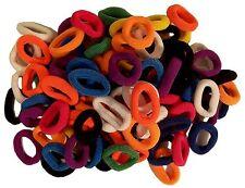 Pack 100 gomas del pelo multicolores felpa trenzas accesorio peinado