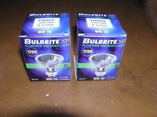 2 BULBRITE XP EXZ/GU10 120 V 50 W Aluminum Halogen Lamp Glass Covered MR-16