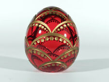 Russland BRIEFBESCHWERER ° Glas Ei ° Schliffdeko °° Etikett Design nach Faberge