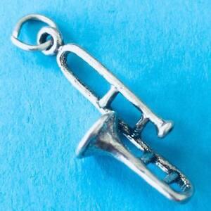 Brand New Sterling Silver 925 Music Trombone Band Choir Brass Instrument Charm