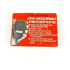 Realistic Pre-amplified CB Microphone 21-1171 Walkie Talkie Shortwave CB Radio