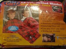 "Car Cozy 2 12-Volt Heated Travel Blanket (Plaid, 42"" x 58"") Trillium Worldwide"