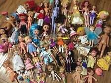 Huge Lot Girl Toys Dolls 60+ Items Barbie/Disney/More