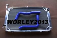3 core aluminum radiator + Blue radiator hose for Patrol GQ Y60 4.2 Diesel