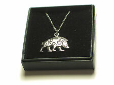 "Celtic Boar Pendant on 18"" chain,  English Pewter.BOXED, Strength"