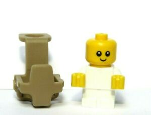 LEGO Baby White Outfit  & Carrier Plain Minifigure Not Inc Great Xmas Gift