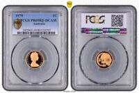 1979 Australia 1 Cent PCGS PR69 RD DCAM (Red) Highly Sought After  Coin