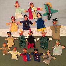 Lot De 17 Marionnettes à Main Vintage + Disney