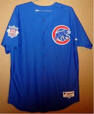 CHICAGO CUBS #29 ROYAL BLUE BUTTON-DOWN MLB AUTHENTIC Size 52 JERSEY