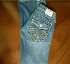 True Religion Rainbow Joey Jeans Womens Size 25 (28x32) Low Rise, Made in USA