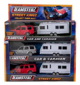 Teamsterz Car and Caravan Toy Diecast Car With Opening Doors Kids Children Gift
