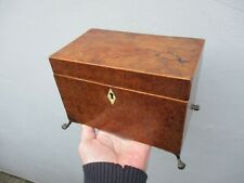 More details for a georgian yew wood tea caddy c1780/1800