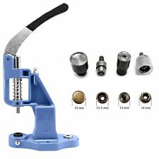 Hand Press Machine and 15mm Heavy Duty Press Studs Setting Tool Die Set ATR+A8H