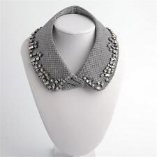 Zara Bejeweled Collar Necklace Black & White