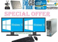 Dell Intel Quad Core i5 Office Home PC Bundle 16GB 512GB SSD HDD Windows 10 Wifi