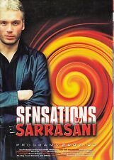 "PROGRAMME 2002 / 2003 DE ""SENSATIONS BY SARRASANI""  (CIRQUE)"