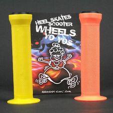 GK Scooter Handlebar Grips Combo Orange Yellow + bar ends