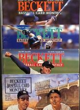 Beckett Baseball Card Monthly 1991 4 Issues!! 75 76 79 81 Clemons Dimagio Mantle