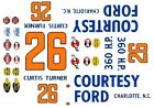 #26 Curtis Turner Courtesy Ford 1960 1/43rd Scale Slot Car Waterslide Decals