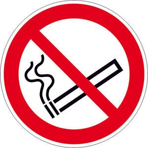 Schild Rauchen verboten / Rauchverbot / Verbotsschilder / Folie oder Alu