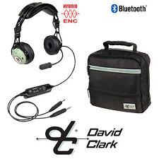 David Clark DC PRO-X ENC Aviation Headset Battery Power - GA Plug w/ Bluetooth