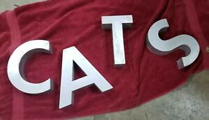 """CAT Or CATS Letters 10"""" Tall Sign Home Office Veterinary Clinic"""