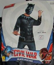Captain America Black Panther Halloween Shirt Mask Costume Mens One Size HA5a