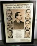 Large Framed 1916 Provisional Government Picture - Irish Republican Rebel Rising