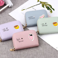 9 Slot Fruit Leather ID Credit Card Holder Coin Purse Wallet for Women
