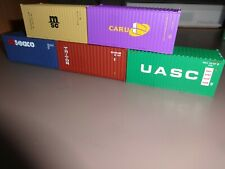 B-MODELS/ WALTHERS  HO  Lot de 5 containers 20'.