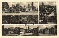 Plauen Vogtland ~1933/40 Johanniskirche Rathaus Adolf Hitler Park Theater Markt