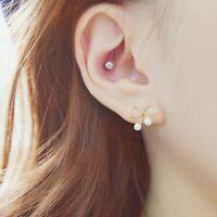 Pearl Black Bow Pearl Earrings Stud Earrings Bow Stud Earrings Earrings