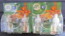4 X Air Wick Scented Oil Refills Festive Moments Frosted Pine & Twinkling Lights