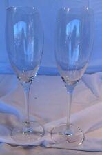 """Dom Perignon Champagne SET of 2 Flutes Glasses 9 1/8"""" Unused Condition"""