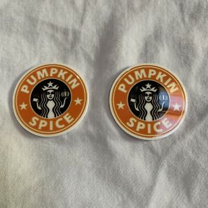 Pumpkin Spice Starbucks Shoe Charms For Croc Style Shoes 2pc