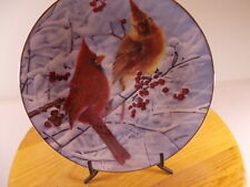 "The Danbury Mint Collection ""Scarlet In Wiinter"" Collectors Plate By Bob Travers"