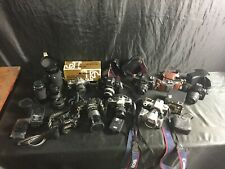 Lot Of Vintage Cameras And Lenses (Not Tested- For Parts)