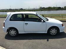 Breaking frais d'importation toyota starlet 1.3 turbo blanc 5 vitesse aucun lsd modèle m54