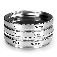 37mm 3 Filter Kit UV FLD CPL for any 37 mm Lens Camera UD#20