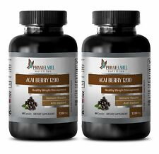 Pure acai berry - ACAI BERRY EXTRACT 4:1 - immune support for adults - 2 Bottles