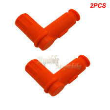 2x Orange Spark Plug Cap For 50 125 150 250cc Pit Bike ATV Buggy Go Kart Scooter