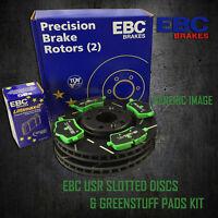 NEW EBC 272mm REAR USR SLOTTED BRAKE DISCS AND GREENSTUFF PADS KIT PD06KR028