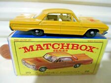 Lesney Matchbox 1965 Rw20C Yellow Taxi Cab with Label Bpw C9 Mint inExcellentBx