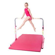 Zoe Gymnastics Junior High Bar Training Equipment Home Gym Height Adjustable Pink