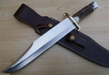 BEAUTIFUL CUSTOM HANDMADE D2 Steel Hunting Knife Stag/antler Handle