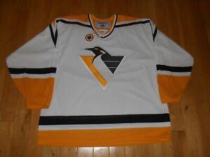 New Vintage CCM Maska Air Knit PITTSBURGH PENGUINS Men NHL Hockey Team JERSEY XL