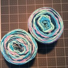 #13 Lot of 2 Peaches n Cream Yarn 190 yds 4 oz Total 100% Cotton Evening Sea