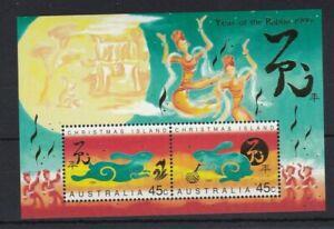 CI121) Christmas Island 1999 Year of the Rabbit Minisheet MUH