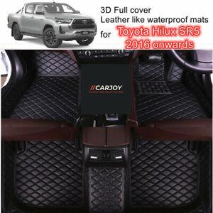 3D Shape Customized Waterproof Car Floor Mats for Toyota Hilux SR5 2016 - 2021